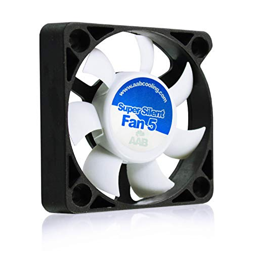 AAB Cooling Super Silent Fan 5 - Silent and Efficient 50mm Fan with 4 Anti-vibration Pads | 3D Printer Accessories | Quiet Fan | 3D Printer Fan | Silent Case Fan