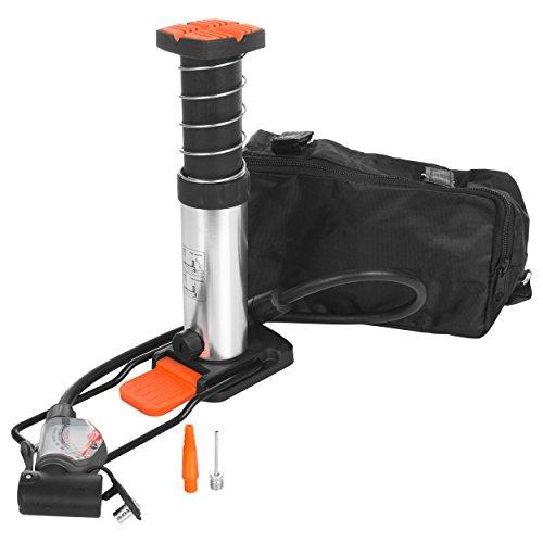 Sport-Tec Mini Fußpumpe mit Adapter