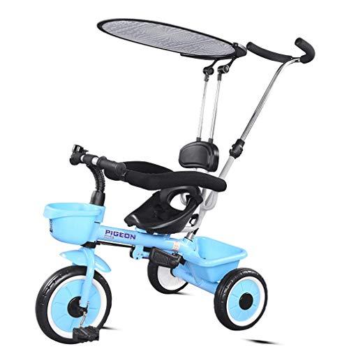 LNDDP Kinder 3 in 1 Trike, Verstellbarer Sitz Baby Dreirad, Kleinkind 3 Räder Kinderwagen Kinderpedal Fahrrad mit...