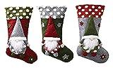 Calcetines De Navidad Conjunto De 3 Piezas,...