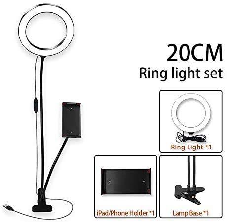 20Cm LED Ring Light, Selfie Ring Light Met Statief RGB Dimbaar Verstelbaar Duurzaam Voor Make-Up Youtube-Video's Fotografie