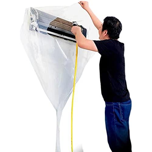 【LXYZON】壁掛用 エアコン 洗浄 カバー 使いやすい 透明 エアコン 掃除 カバー 洗浄 シート スチームクリーナー 対応 (2021最新改良版) (トランスペアレント)