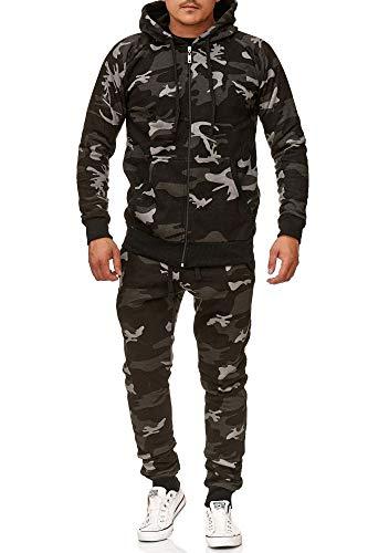 Violento joggingpak Uni Colour Design 586 703 | joggingbroek en rits 100% katoen | capuchon en geribde manchetten | S tot 3XL