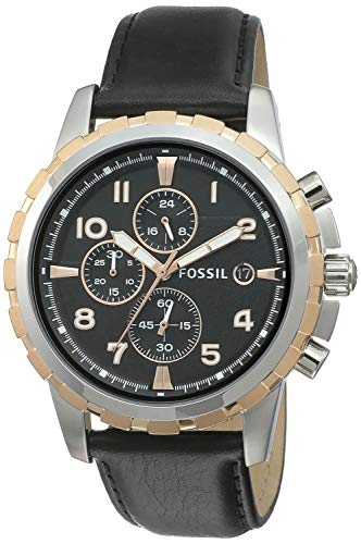 Fossil Chronograph Black Dial Men's Watch - FS4545