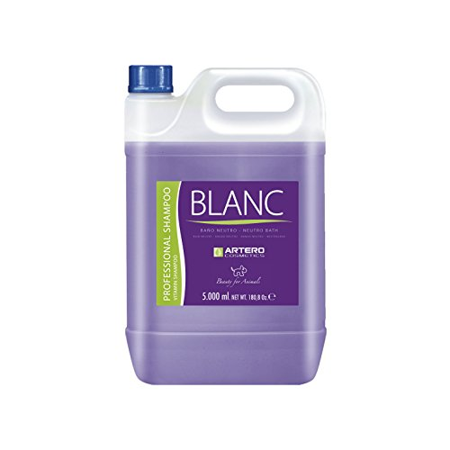 Shampoing blanchissant Artero pour chiens et chats 250 ml et 5 L 5 lts