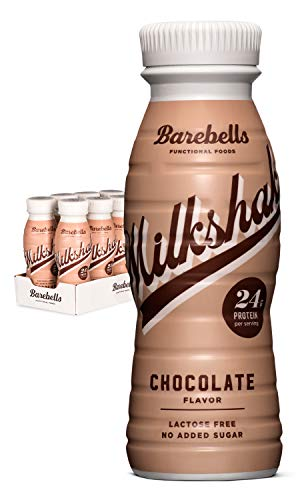 Barebells Protein Milkshake | Chocolate | 8 x 330ml Bottles | High Protein Shake | No Added Sugar | Lactose Free | 24g of Protein | Delicious Creamy Flavour