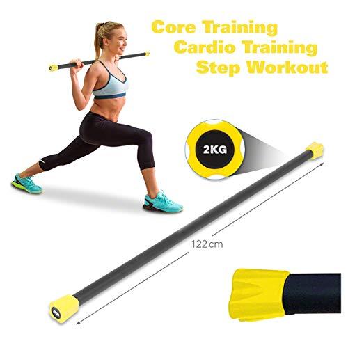Sport-Tec Gewichtsstange 2 kg, gelb, Hantelstange, Langhantel, Gewichtsstab