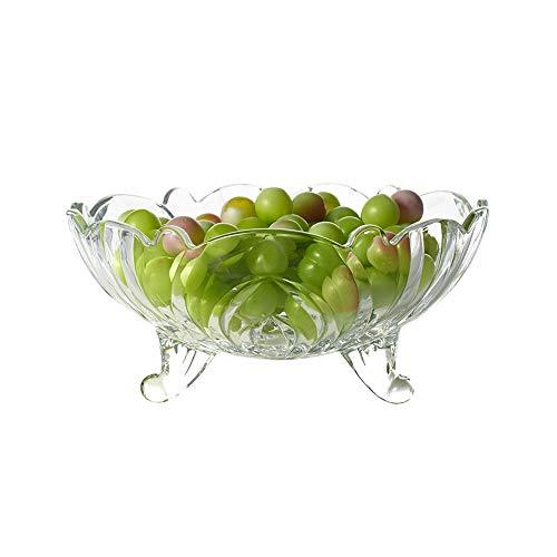 HARLIANGXY Obstteller, Obstkorb - Transparent Kristallglas, Modern, Kreativ, für Wohnzimmer, Büro, Party, Obstschale, Dessert-Teller aus Glas, Snack-Tablett