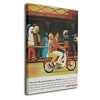 Ale-art スーパーカブ 1960年代 アメリカ アートパネル 40*50cm ポスター 絵画 壁掛け インテリア 風景 キャンバス絵画 バスルーム ダイニングルーム 装飾