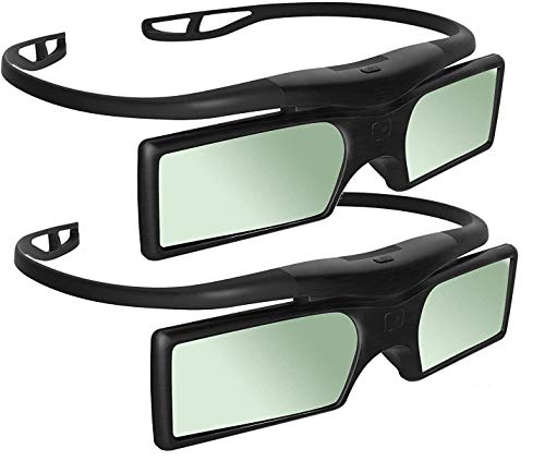 Sintron 2X 3D RF Glasses Eyewear for Sony Panasonic Samsung 3D TV, Compatible with TDG-BT400A TDG-BT500A SSG-5100GB TY-ER3D4MU (2 Pairs)