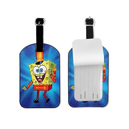 Etiquetas de equipaje de Bob Esponja con correa ajustable para equipaje de...