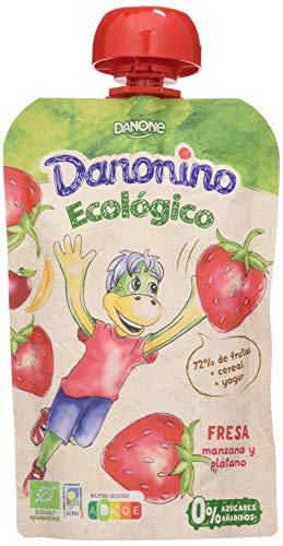 Danonino Yogurt Bolsita Ecológica Fresa 90 gr