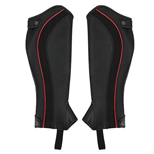 Redxiao Leggings cómodos y duraderos Polaina Ecuestre Negra, Chap Ecuestre, para entusiastas de la equitación Hombre/Mujer para Deportes al Aire Libre