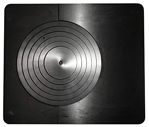 Zoppas Piastra in ghisa per stufa cucina a legna completa di cerchi - 475 x 405 mm. - K6701