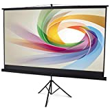 """Display4top 100"""" Tripod Projector Screen With Stand Portable Foldable For Home Theater Cinema"""