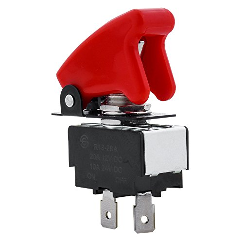 Pilot Automotive PL-SW26 Performance Toggle Switch with Red Safety Cover