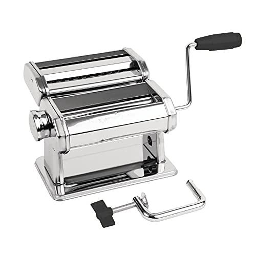 Pastamaschine Nudelmaschine Nudelwalze z.B. für Frische Spagetti, Lasagneplatten, Fettuccine usw. Inklusive 1,5mm & 6,5mm Rollenschneider