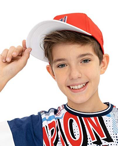 GULLIVER Jungen Cap Kinder Kappe Baseball Cap Jungs Rot mit Patch 4-8+ Jahre