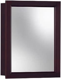 Jensen 780989 Sheridan Framed Medicine Cabinet, Espresso Wood, Surface Mount, 15-Inch By 19-Inch