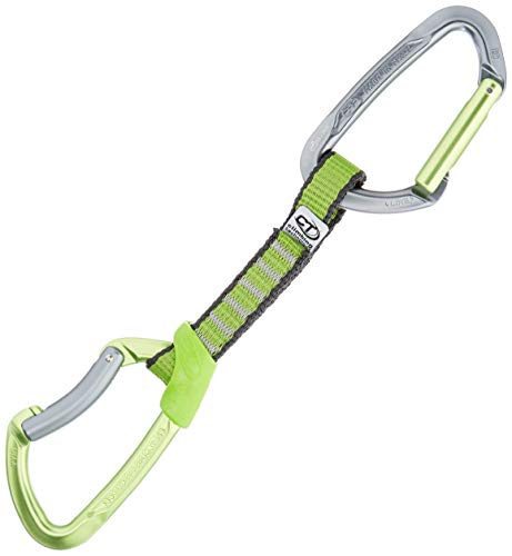 Climbing Technology Lime 2E661DZC0LCTST1 - Cinta exprés para Escalada, 12 cm, Color Verde/Gris