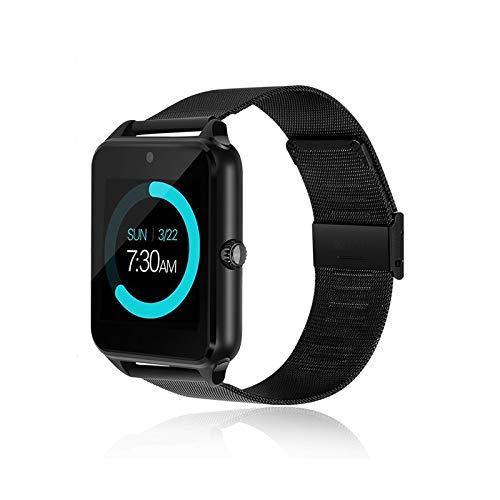 Generisch 2020 PromoTech Z60 Sport Smartwatch mit Bluetooth 3.0 + 1.54 inch Touchscreen + Kamera + GSM/GPRS SIM-Karte. Für Android und iOS. (Schwarz)