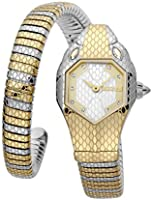 Just Cavalli Signature Snake Serpente Solo Stainless Steel Watch JC1L177M0055 - Quartz Analog for Women in Stainless...