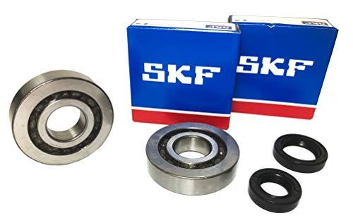 SKF C4 Kurbelwellenlager Set mit Simmerringen Hi-Quality Metallkäfig