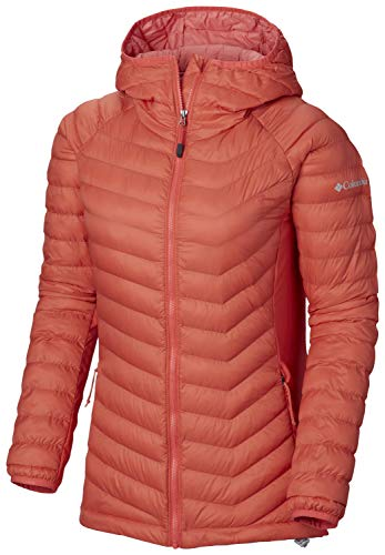 Columbia Damen Powder Pass Hooded Jacket Jacke, Red Coral, M