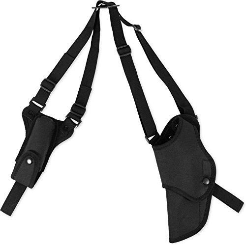 normani Pistolenschulterholster verstellbar für Rechts- oder Linkshänder inkl. Magazintasche Größe Rechts