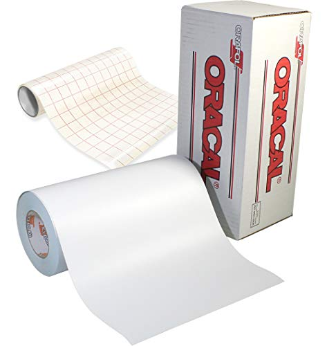 Oracal 651 Klebefolie für Cameo, Cricut & Silhouette, Vinyl, matt, Weiß, 30,5 cm Rolle