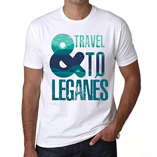 Hombre Camiseta Vintage T-Shirt Gráfico and Travel To LEGANÉS Blanco