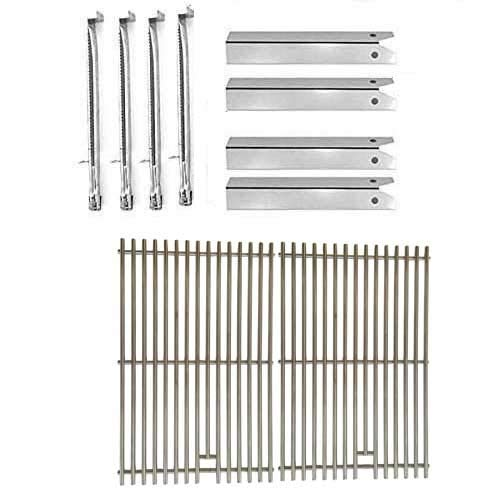 Uniflame Pinehurst GBC750W Gas BBQ Grill Replacement 4 Stainless Burners, 4 Stainless Heat Plates & Stainless Cooking Grates Burners Grill