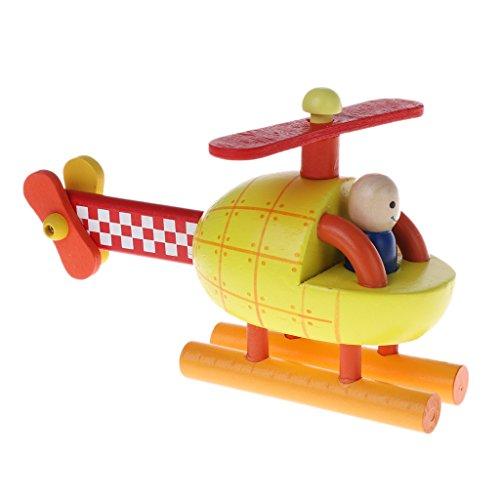 Qiuxiaoaa Magnetische Demontage Modell Magnetic Aircraft Rakete Hubschrauber Kinder Hands-on Puzzle Holzspielzeug Hubschrauber