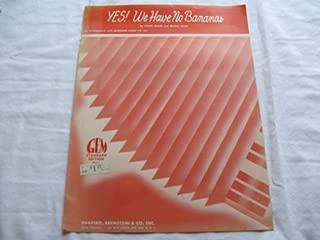 YES WE HAVE NO BANANAS FRANK SILVER 1950 SHEET MUSIC SHEET MUSIC FOLDER 412