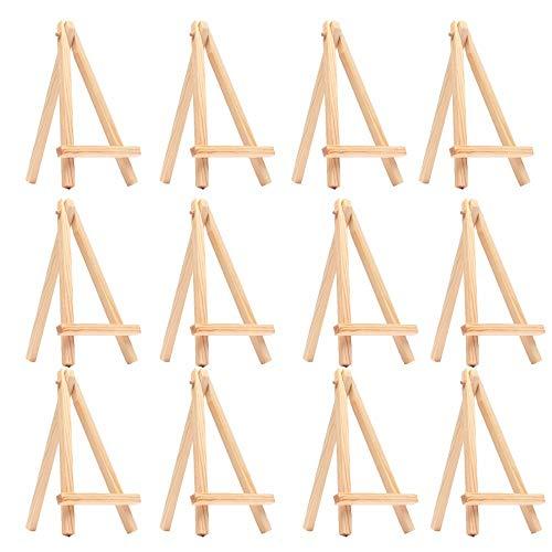 Lot de 12 chevalets en bois de 15cm - Marque-place ou...