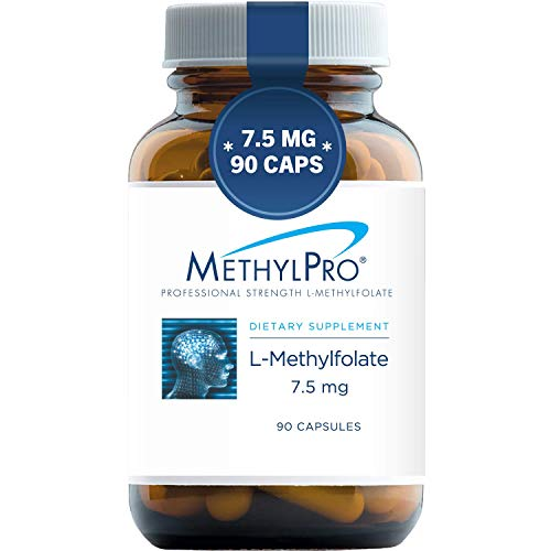 MethylPro 7.5mg L-Methylfolate (90 Capsules) - Professional Strength Active Methyl Folate, 5-MTHF Supplement for Mood, Homocysteine Methylation + Immune Support, Non-GMO + Gluten-Free with No Fillers