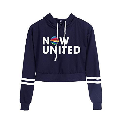 2020 Ahora United Crop Moda Sudaderas con capucha Mujeres Sexy Pullover Unisex Harajuku Tracksui