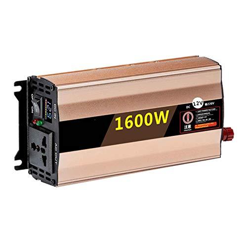 yankai Reiner Sinus Spannungswandler - Auto Wechselrichter 12V,24V,48V,60V Bis 220V/230V,intelligente Temperaturregelung,Geräuschlose Wärmeableitung