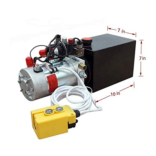 Hydraulic Power Unit Single Acting 12V DC Dump Trailer 6 quarts with Remote