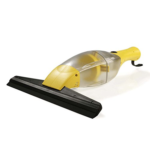 CLEANmaxx 02304 Akku-Fensterreiniger | Streifenfreie Sauberkeit | Fenster, Fliesen, Spiegel, U.V.M. | Keine Tropfen | Li-Ion Akku 1500 mA | Gelb