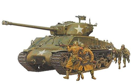 Tamiya TA25175 - Kit de Tanque en Miniatura (1/35, Sherman Easy 8 y 4 Figuras)