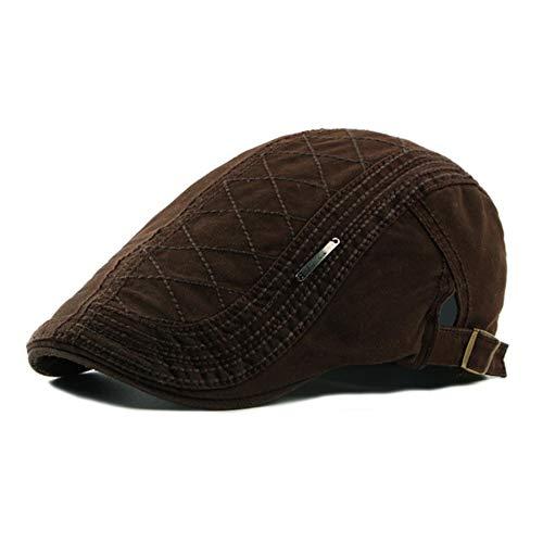 Casual Boina Sombreros Hombres Mujeres De Algodón Sólido Visera De Pico Plano Sombrero De Pato Artista Pintor Boina Cap Casquette