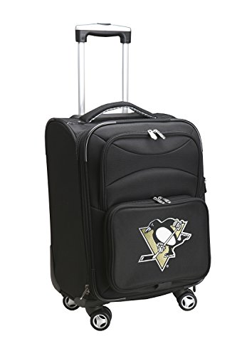 Denco NHL Pittsburgh Penguins Domestic Carry-On Spinner, 20-Inch, Black