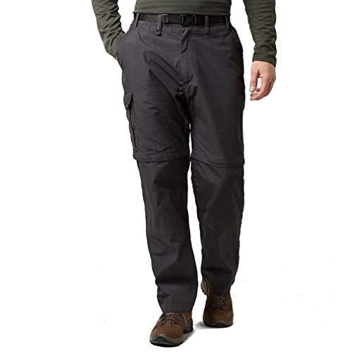 Craghoppers Kiwi Conv Trouser Pantaloni da Escursionismo, Pepe Nero, 34W Lange Uomo