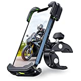 [Never Break] Bike Phone Mount, VICSEED Motorcycle Phone Mount [Full Protection & Super Stable] Bike Phone Holder for Bike Bicycle Phone Mount for iPhone 12 Pro Max Galaxy S21 and 4.7'- 6.8' Phone
