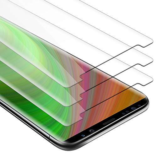 Cadorabo 3X Panzerglasfolie für Samsung Galaxy Note 8 - Schutzfolie in KRISTALL KLAR - 3er Pack Gehärtet (Tempered) Bildschirmschutz Glas in 9H Festigkeit mit 3D Touch Kompatibilität