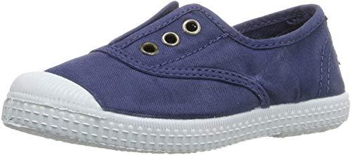 CIENTA - Scarpa blu in tessuto, made in Spain, con inserto elasticizzato sulla parte frontale, occhielli dorati, Bambino, Ragazzo-29