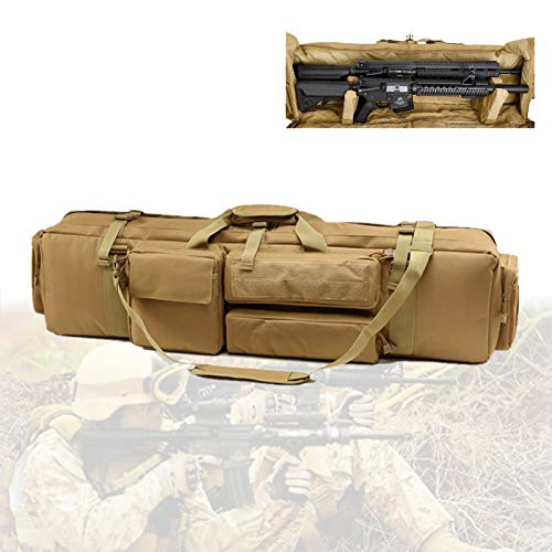 TBDLG Estuche de Rifle, Bolsa para Doble Rifle con Material de Nailon, Base Fija Magic Stick, Gran Capacidad, Funda de Airsoft para Escalada, Pesca, Camping, Caza