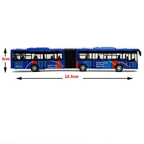 TOOGOO Kinder Diecast Model Vehicle Shuttle Bus Auto Spielzeug Kleines Baby ZurüCkziehen Spielzeug Blau