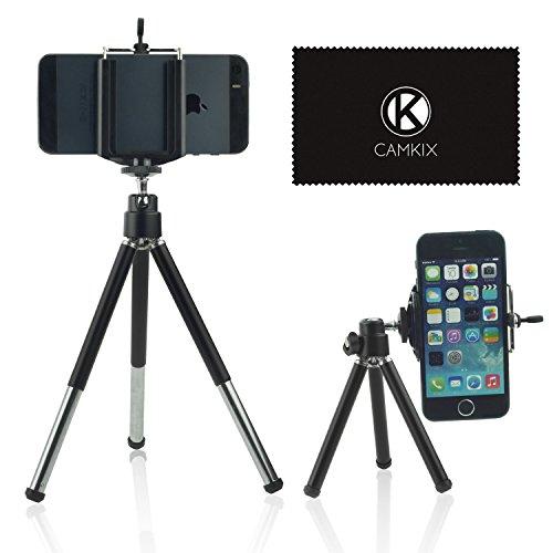 Kit Treppiede - Universale Regolabile che Include Treppiede/Porta Telefono Universale/Borsa per Telefono/Panno di Pulizia - Adatto per iPhone, Samsung e la Maggior Parte degli Altri Telefoni